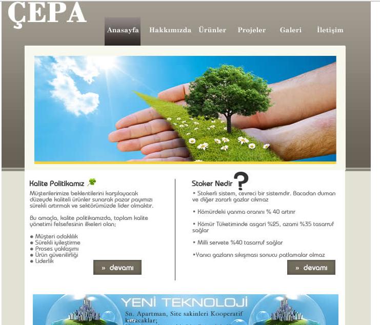 Çepa Sanayi Web Site Tasarım