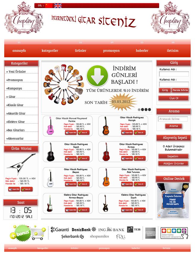 Gitarcım Web Site Tasarım