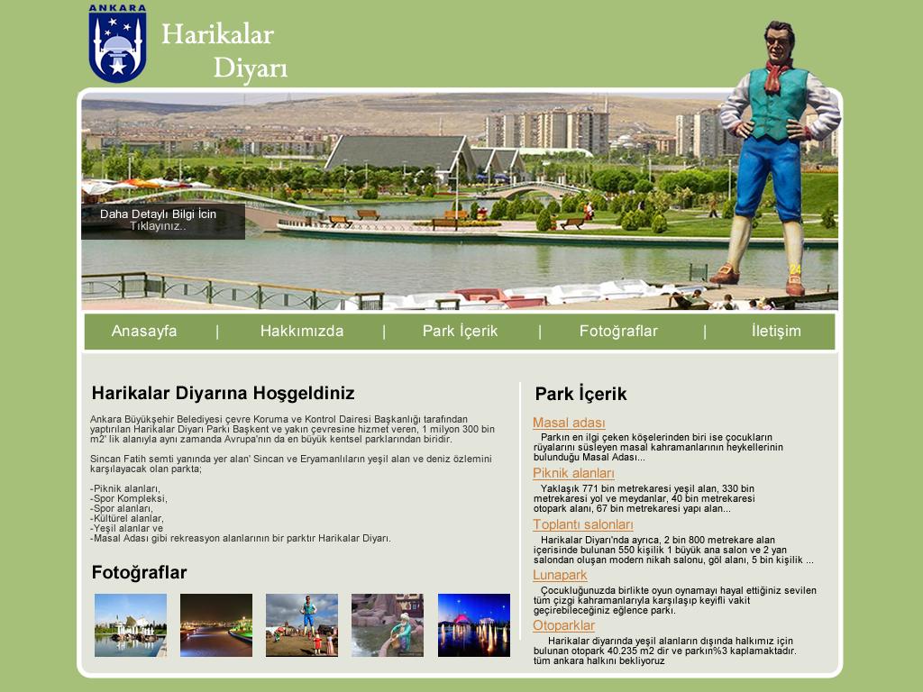 Harikalar Diyarı Web Site Tasarım