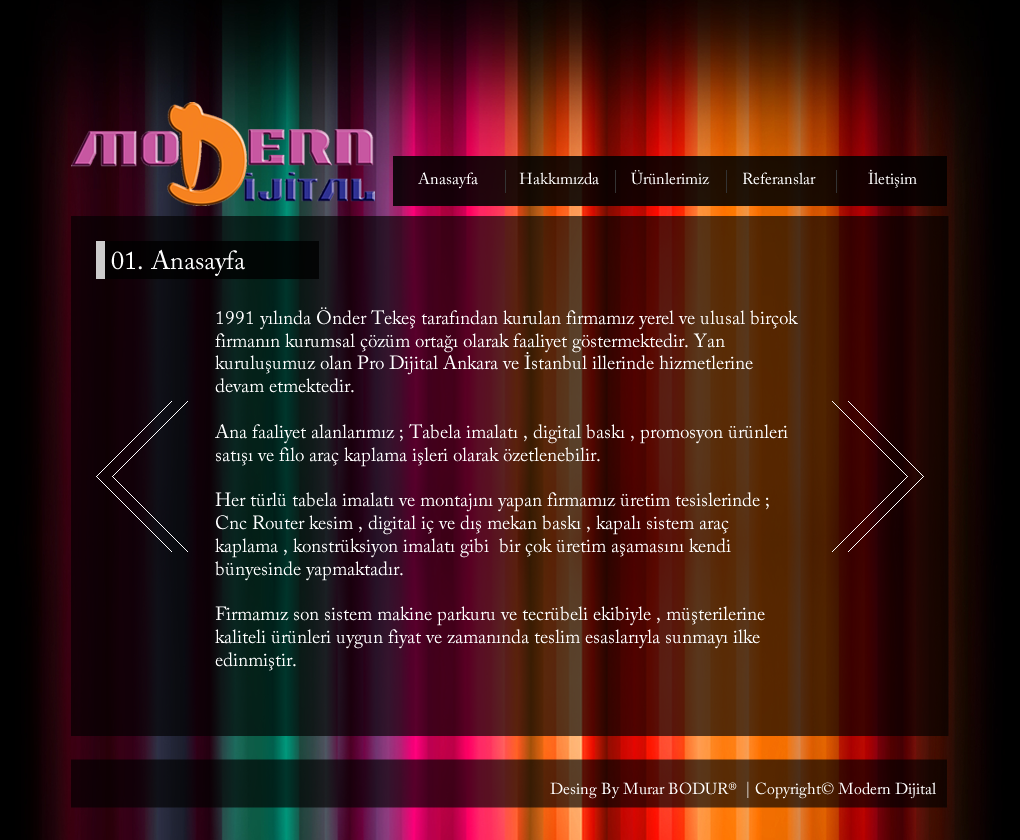 Modern Dijital Web Site Tasarım