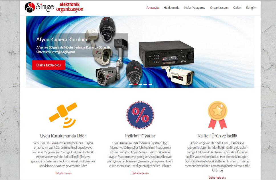 Simge Elektronik Web Site Tasarım