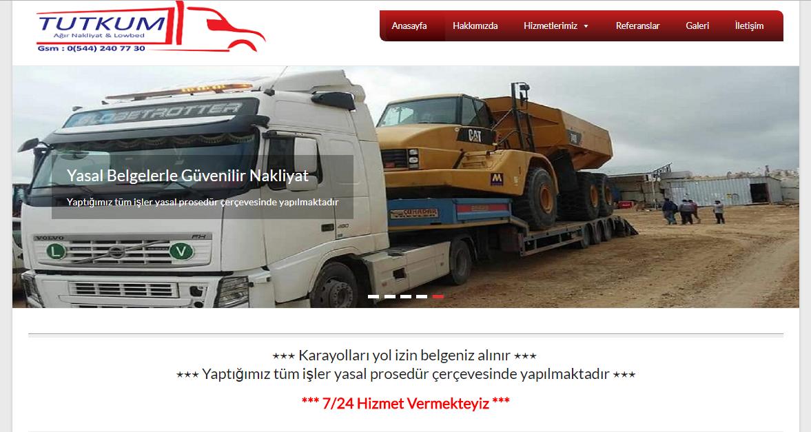 Tutkum Hafriyat Web Site Tasarım
